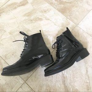 7a30e73f857e Acne Shoes - Acne studios Linden black leather combat boots 37